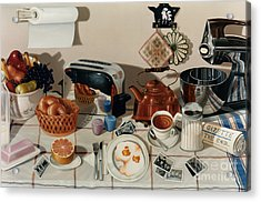 Breakfast With The Beatles - Skewed Perspective Series Acrylic Print by Larry Preston