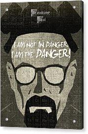 Breaking Bad Walter White Poster Acrylic Print by Albert Lewis
