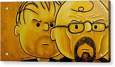 Breaking Brown Acrylic Print by Al  Molina