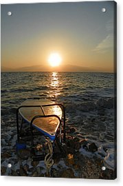 Breaking Dawn At The Dead Sea Acrylic Print by Noreen HaCohen