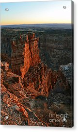 Breaking Dawn On Spires In Grand Canyon National Park Vertical Acrylic Print