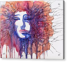 Acrylic Print featuring the painting Breaking Out Loud by Rebecca Davis
