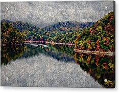 Breaking The Mirrow Acrylic Print by Tom Culver