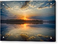 Breaking Through The Clouds Acrylic Print by Dan Holland