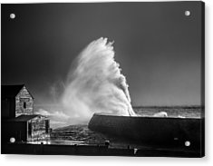 Breaking Wave Acrylic Print by Tim Booth