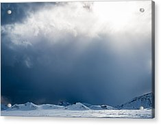 Breakthrough - Iceland Snow Photograph Acrylic Print by Duane Miller