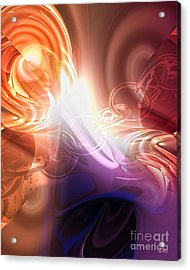 Breakthrough Acrylic Print by Mo T
