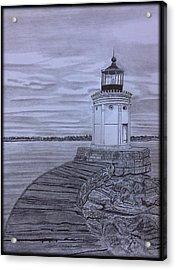 Breakwater Bug Lighthouse Acrylic Print
