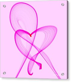 Breast Cancer Awareness . Love Acrylic Print by Renee Trenholm