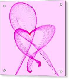Breast Cancer Awareness . Love Acrylic Print