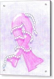 Breast Cancer Awareness Acrylic Print by Melissa Osborne