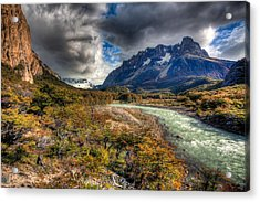 Breath Of Cold Acrylic Print by Roman St