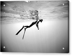 Breathe 1 Acrylic Print by One ocean One breath