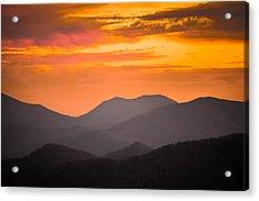 Breathtaking Blue Ridge Sunset 3 Acrylic Print