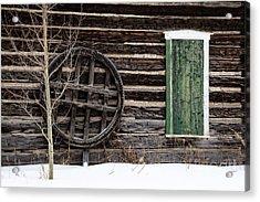 Breckenridge History In The Snow Acrylic Print by Deborah Scannell