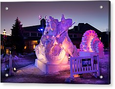 Breckenridge Snow Art Acrylic Print by Michael J Bauer