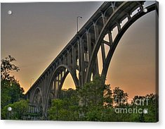 Acrylic Print featuring the photograph Brecksville Arched Bridge by Jim Lepard