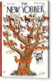Breeds Tree Acrylic Print by Constantin Alajalov
