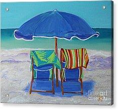 Breezy Beach Day Acrylic Print by Jeanne Forsythe
