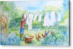 Breezy Day  -great Drying Out Acrylic Print by Trudi Doyle