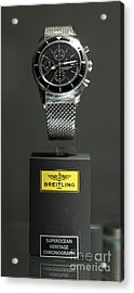 Breitling Watch - 5d20664 Acrylic Print by Wingsdomain Art and Photography