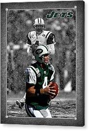 Brett Favre Jets Acrylic Print by Joe Hamilton