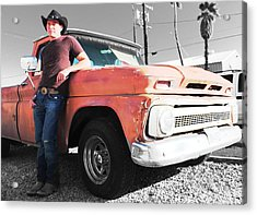 Brian Shotwell And A Truck Acrylic Print