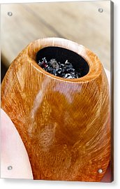 Briar Pipe Bowl Acrylic Print by Frank Tschakert