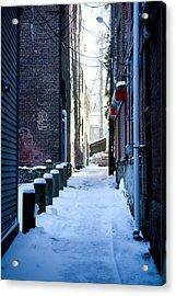 Brick Alley Acrylic Print by Allan Millora
