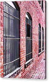 Brick Alley Acrylic Print by HD Connelly
