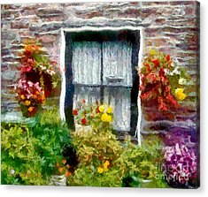 Brick And Blooms Acrylic Print by RC deWinter