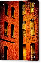 Brick And Glass Acrylic Print by Matthew Blum