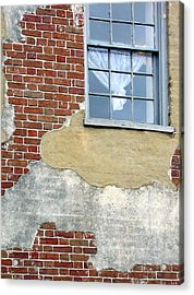 Brick And Mortar Acrylic Print by Sarah-jane Laubscher