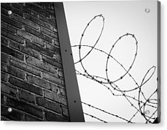 Brick And Wire Acrylic Print