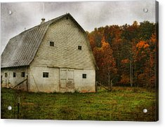 Acrylic Print featuring the photograph Brick Barn by Joan Bertucci