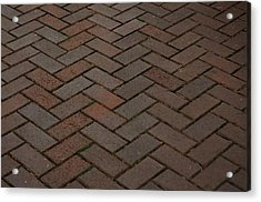 Brick Pattern Acrylic Print by Tikvah's Hope