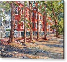 Brick Row Of Nantucket Acrylic Print by Sharon Jordan Bahosh
