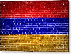 Brick Wall Armenia Acrylic Print