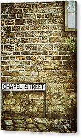 Brick Wall Acrylic Print by Amanda Elwell