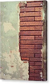 Brick Wall Acrylic Print by Cynthia Harvey