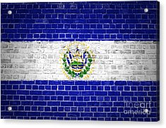 Brick Wall El Salvador Acrylic Print
