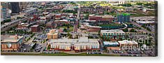 Bricktown Ballpark A Acrylic Print by Cooper Ross