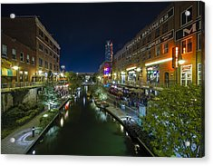 Bricktown Canal Acrylic Print by Jonathan Davison