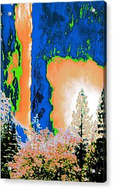 Bridalveil Fall Abstract Acrylic Print