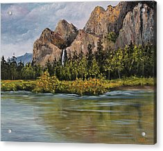 Bridalveil Fall Yosemite Acrylic Print by Darice Machel McGuire