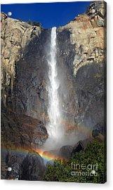 Bridalveil Falls Double Rainbow Acrylic Print
