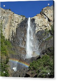 Bridalveil Falls With Rainbow Acrylic Print