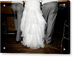 Acrylic Print featuring the photograph Bride At The Bar by Courtney Webster
