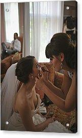 Bride Eyeliner Acrylic Print by Mike Hope