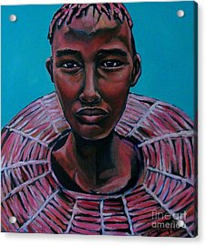 Bride - Portrait African Acrylic Print